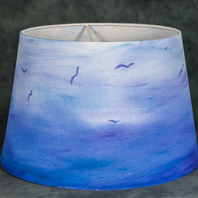 Lamp Shade Sky Birds Blues Large Michelle Owens